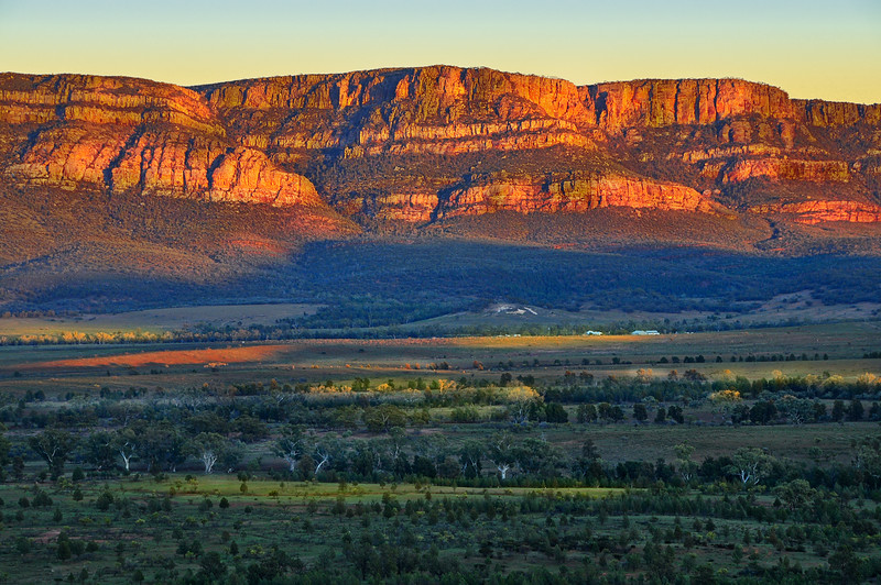 Wilpena Pound at Sunrise