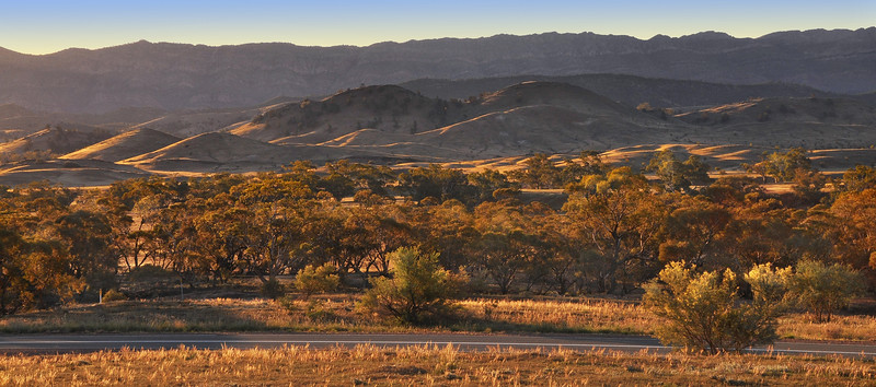 Wilpena Road at Sunset