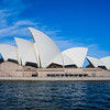 Sydney Opera House from the water.