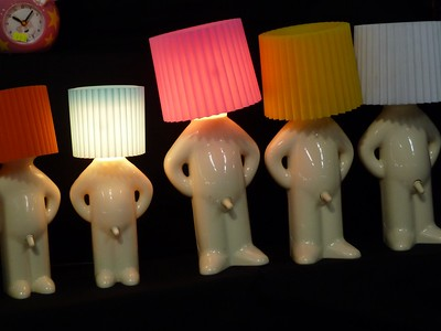 Amusing little lamps at the market
