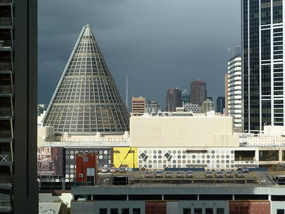 The cone over Melbourne Central