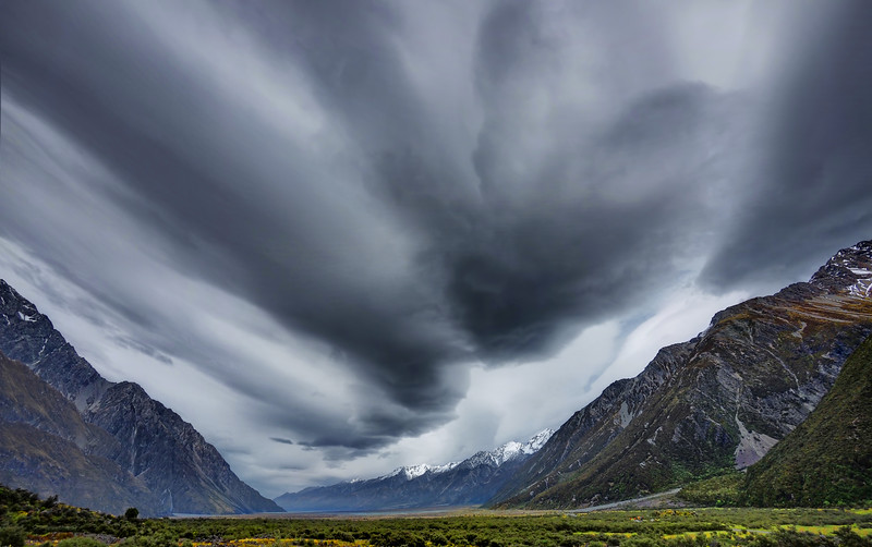 Storm Clouds in Tasman Valley