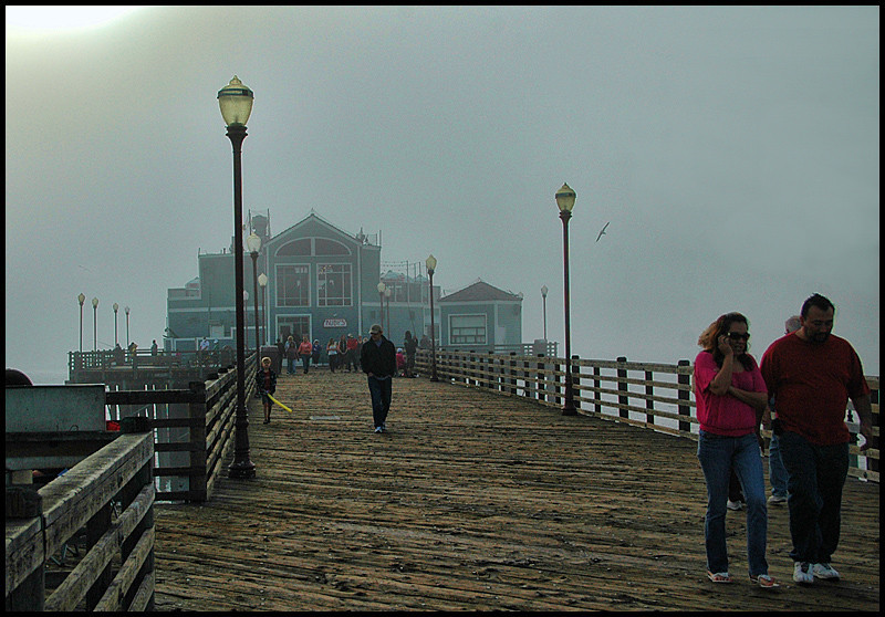The heavy Fog kept rolling in and out making for an interesting scene! This is the Oceanside Pier.