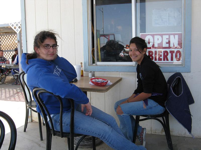 Marissa and Marla at the Blu-Inn.