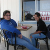 Marissa and Marla at the Blu-Inn.