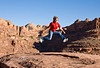 Catching Air atop a Hoodoo in the Utah Desert - Photo by Cindy Bonish