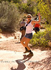 Crazy Hiking Cindy in Arches National Park - Photo by Pat Bonish