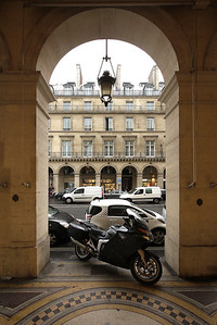 BMW K1200 GT. Framed in an archway off the rue de Rivoli