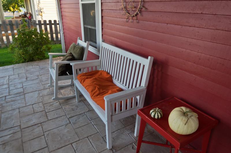 Rod & Karen's front porch. Athens, WV