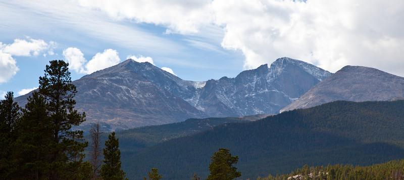 Long's Peak as seen from the distance. Rocky Mountain National Park, Colorado
