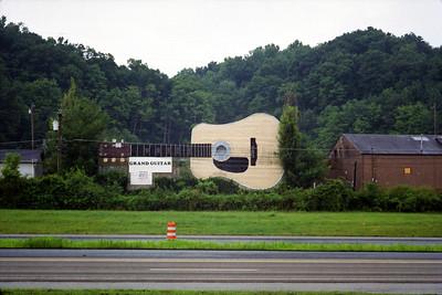 Guitar Building, Interstate 40, Bristol, Tennessee. July, 1999