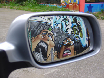 Horror in the rear view!
