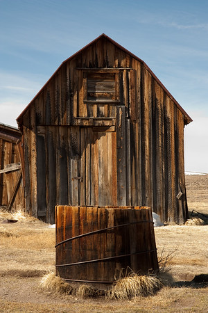 Abandoned barn. Bodie, CA.