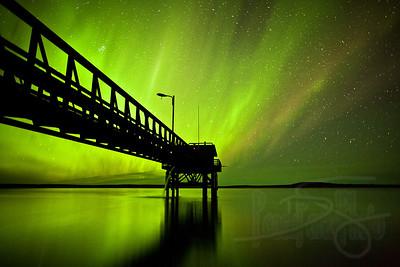 Aurora borealis. Devil's Lake. Kotzebue, AK