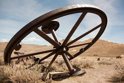 abandoned machinery at the mining ghost town of bodie, ca