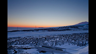 """The Long Antarctic Night Sky."" Time Lapse Video of scenes from sunset to sunrise (April 24 to August 19, 2011), McMurdo Station, Antarctica."