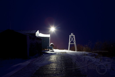 Night light at the local chapel. Selawik, AK