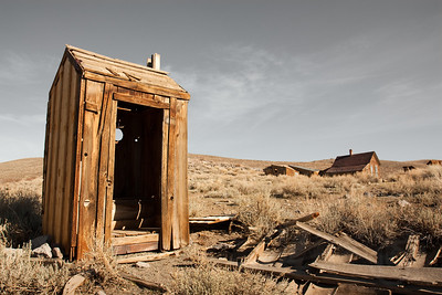 Comfort station. Ghost town of Bodie, CA