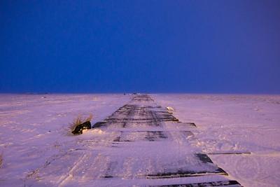 Boardwalk out of town toward ... ? Selawik, AK