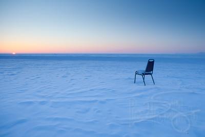 Arctic sunset on the sound. Kotzebue, AK.