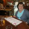 Helena ordering dinner at Karpo's Restaurant (near Kings Cross, London).
