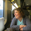 Helena settled on the TGV to Turin