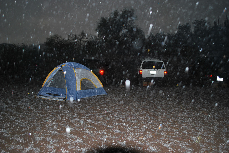 what a nasty thunderstorm - rain and hail at the same time