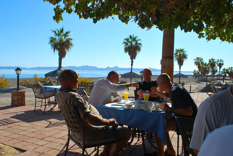 Hotel Oasis in Loreto has the best breakfast location of all places