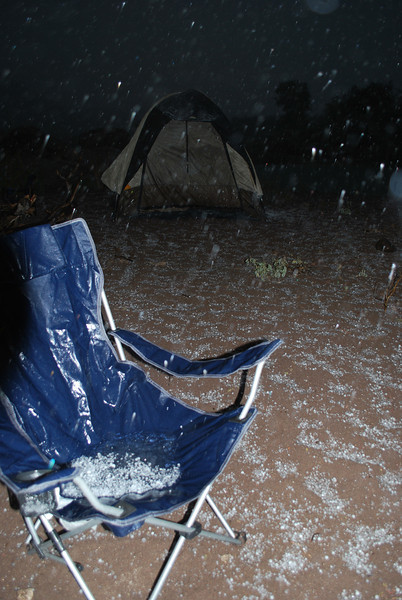hail in your chair does not make for a cozy night