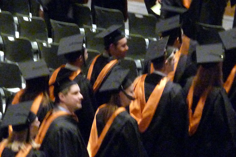 The walk...Kari with the tassel in her face.