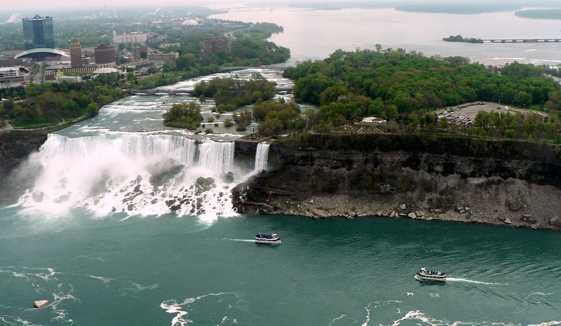 There are 3 falls that make up Niagara Falls. Niagara Falls American side; Bridal Vail Falls; Niagara Falls Canadian side, also known as Horseshoe Falls.