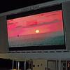 Big Screen on Pool Deck early AM