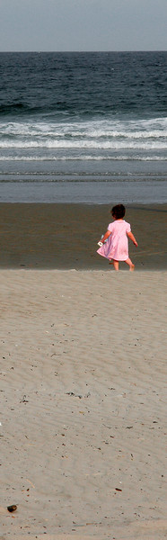 ogunquit, little girl in pink