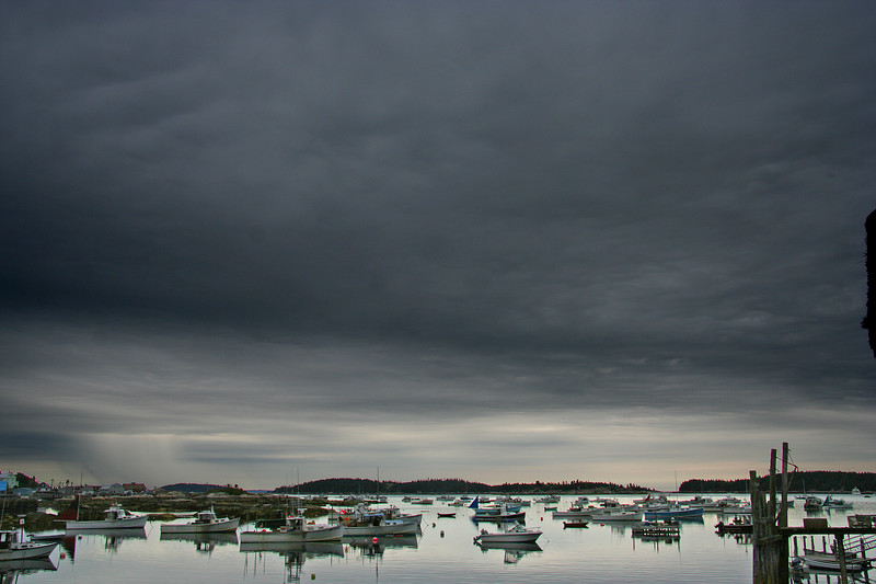 stonington, boats and sky