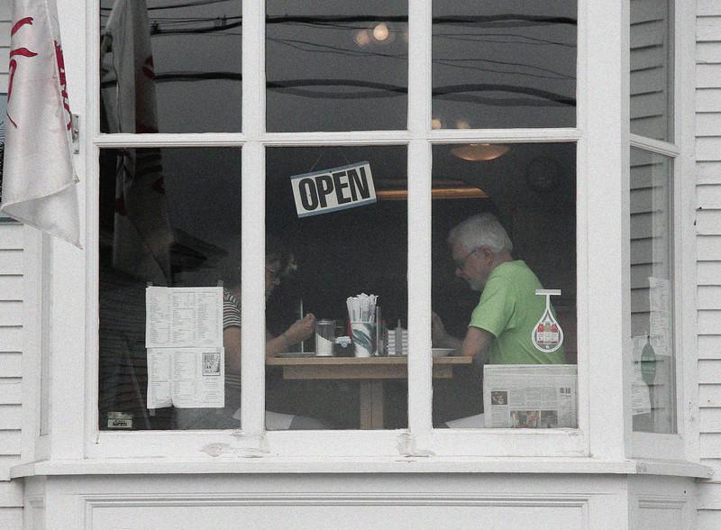 stonington, cafe window