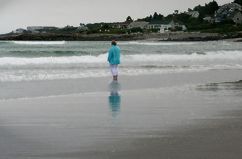 lady on ogunquit beach