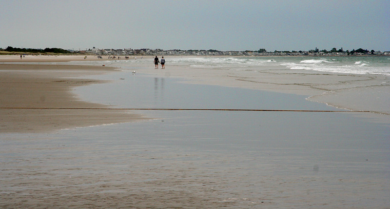 ogunquit, people on beach