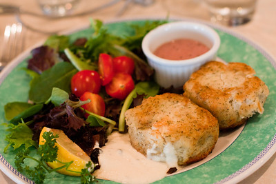 between the bushes fish cakes