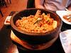 Bibimpop (stone bowl with eg and beef). Sung Korean Bistro. Meeting Hai in Cincinnati, 4/16