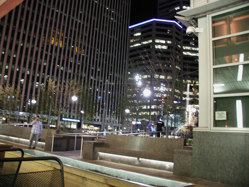 Downtown Cincinnati, as seen from Rock Bottom Restaurant and Brewery. Meeting Hai in Cincinnati, 4/16