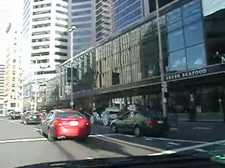 Driving in downtown Cincinnati, 4/16