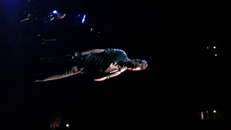 """The River - sorry for the rotation.  Bruce on the Tall Big Screen<br /> <br /> <a href=""""http://www.setlist.fm/setlist/bruce-springsteen/2014/nationwide-arena-columbus-oh-63c38677.html"""">http://www.setlist.fm/setlist/bruce-springsteen/2014/nationwide-arena-columbus-oh-63c38677.html</a>"""