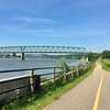 Biking along the Ohio River