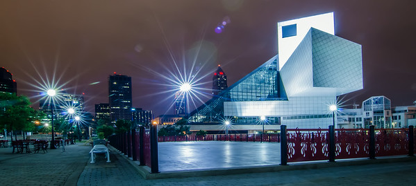 CIRCA 2014 - This is the Rock & Roll Hall of Fame and Museum at One Key Plaza.