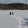 Heading out to go ice fishing