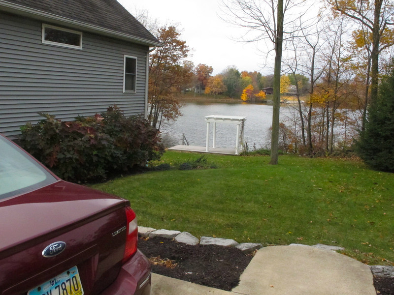 Quick photo of Larry and Amy's driveway and nice lake..Holiday Lakes..south of Willard, Ohio.