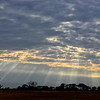 Sunbeams over the delta