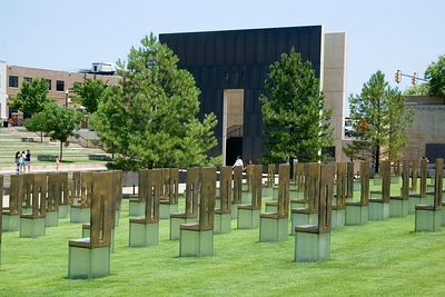 The Field of Empty Chairs symbolizes the absence felt by family members and friends of those lost.