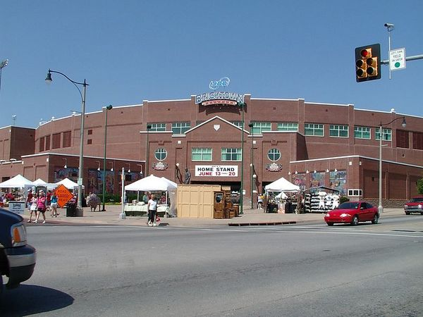 <br><br><font size=3>OKC's Bricktown ball park, home of the Oklahoma Redhawks.</font>