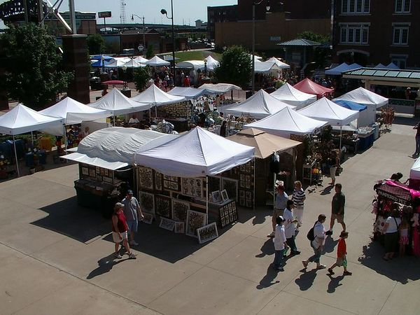 <br><br><font size=3>An art fair on the grounds of Bricktown.</font>